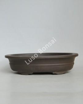 Vaso Oval 30,5x24x7 cm Escuro