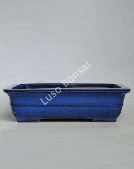 Vaso Rectangular 30.5x24x8 cm Azul