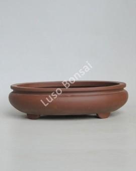 Vaso Oval 28x23x7 cm SE Escuro
