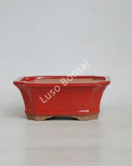 Vaso Rectangular 18,5x14,5x7 cm Vermelho
