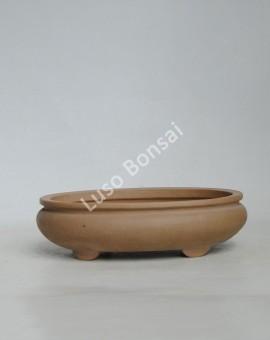 Vaso oval 20.5x16.5x6.5 cm SE Escuro
