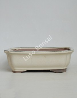 Vaso Rectangular 26.5x20x8 cm Creme