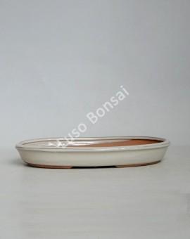 Vaso Oval 30.5x20.5x4.5 cm Creme