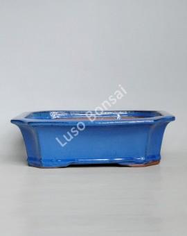 Vaso Rectangular 31x25,5x9 cm Azul