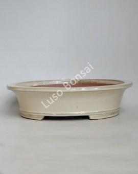Vaso Oval 40x33x9.5 cm Creme