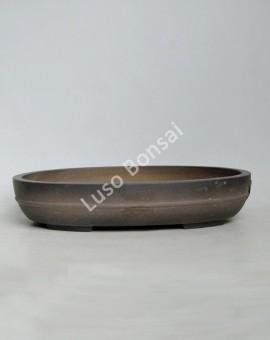 Vaso Oval 36x26x7 cm SE Escuro