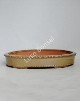 Vaso oval 41x33x6 cm Creme
