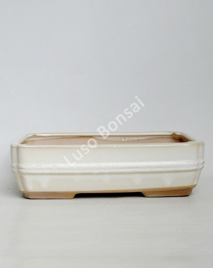 Vaso Rectangular 32,5x24x8 cm Creme