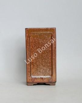 Vaso quadrado Cascata 9x9x16.5 cm Castanho