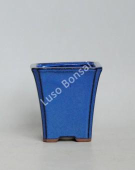 Vaso quadrado Cascata 9x9x9 cm Azul