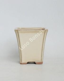 Vaso quadrado Cascata 9x9x9 cm Creme