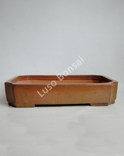 Vaso rectanguar 50x36x9 cm Castanho