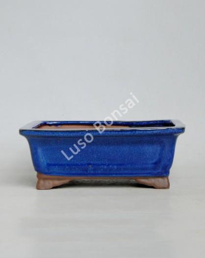 Vaso Rectangular 21x16x7,5 cm Azul