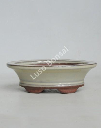 Vaso oval 17x12x5.2 KO Creme