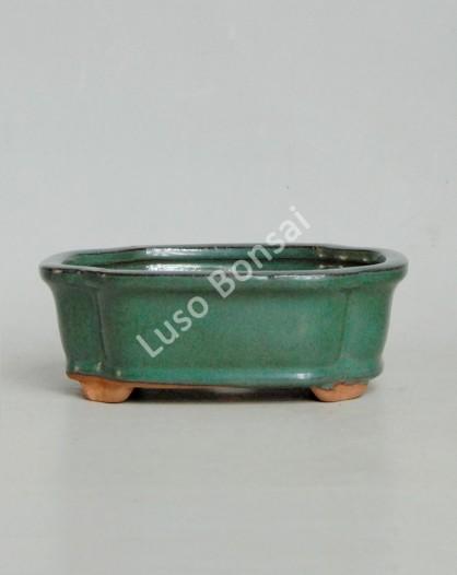 Vaso Rectangular 30.5x24.5x9cm Verde