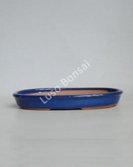 Vaso Oval 31x20.5x5 cm Azul