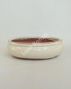Vaso Oval 31x28x10 cm Creme