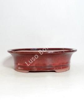 Vaso Oval 31.5x24,4x8,5 cm Vermelho