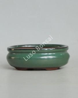 Vaso Oval 26.5x20.8x7.5cm Verde