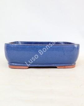 Vaso Rectangular 34x26x10 cm Azul