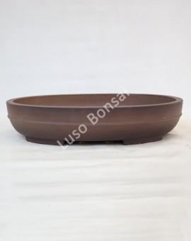 Vaso Oval 44x33x9 cm SE Escuro