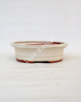 Vaso Oval 20x16x6.5 cm Creme
