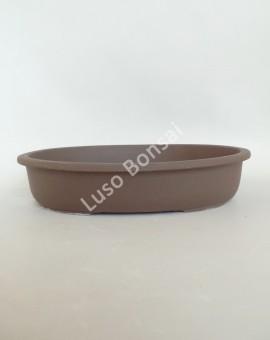 Vaso Oval 28x21x5 cm SE Escuro