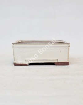Vaso Rectangular 16x12x6 cm Creme
