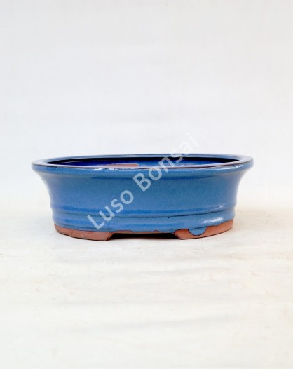 Vaso Oval 25.5x20.5x8 cm Azul