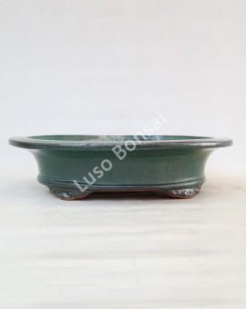 Vaso Oval 40x34x9,5 cm Verde
