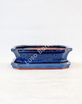Vaso Rectangular Prato 36,5x23x10,5 cm Azul