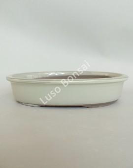 Vaso Oval 25x18x5 cm Creme