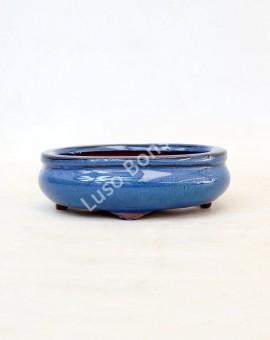 Vaso Oval 15,5x12x5,5cm Azul