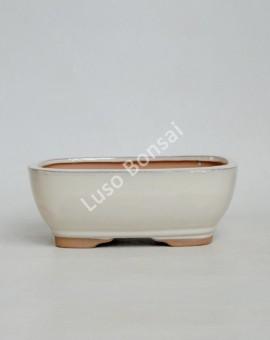 Vaso Rectangular 15.5x11.5x5 cm Creme