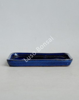 Prato rectangular 16x12x2 cm Azul
