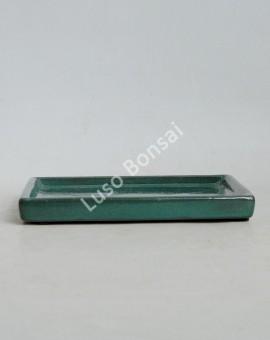 Prato rectangular 25x18x2.5 cm Verde