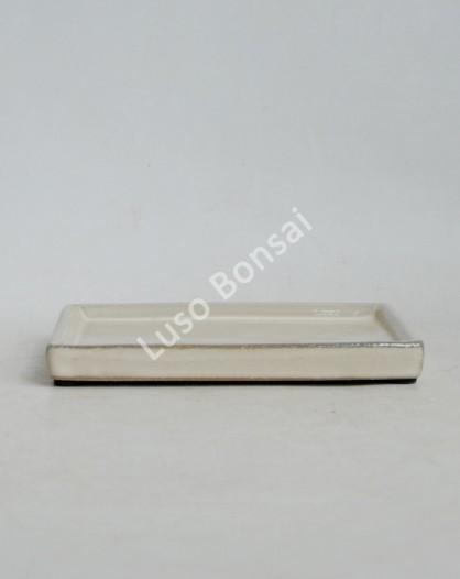 Prato rectangular 30x22x2.5 cm Creme
