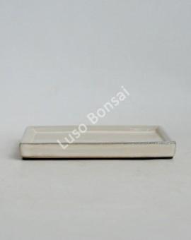 Prato rectangular 34x27.5x3 cm Creme