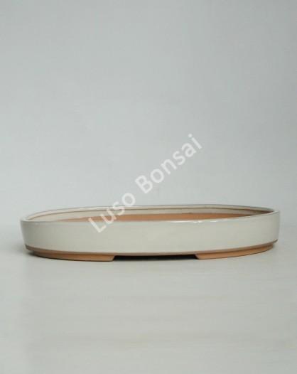 Vaso Oval 30.5x21x4.3 cm Creme