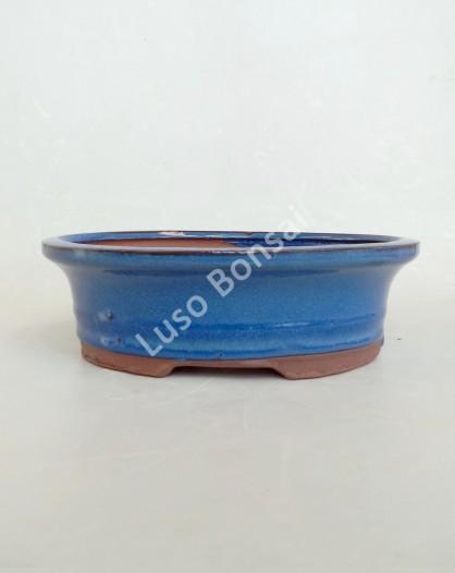 Vaso Oval 21,5x17,5x7 cm Azul