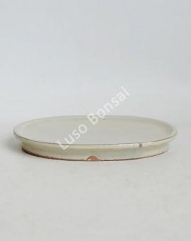 Prato oval 19x13x2 cm Creme