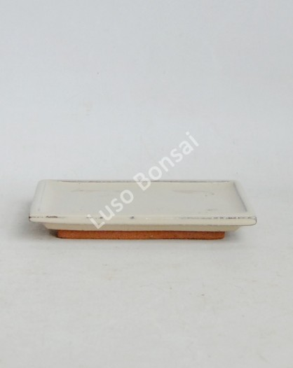 Prato rectangular 14x9x2 cm Creme