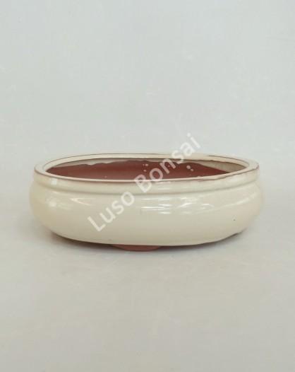 Vaso Oval 25.5x20x8 cm Creme