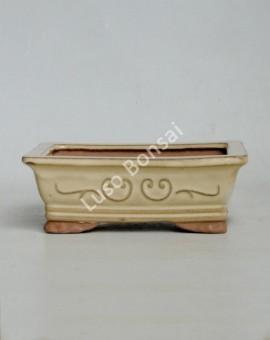 Vaso rectangular 16x11x5,5 cm KO Creme