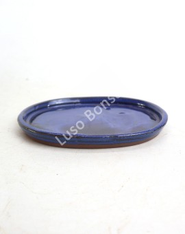Prato oval 21x17x2 cm Azul