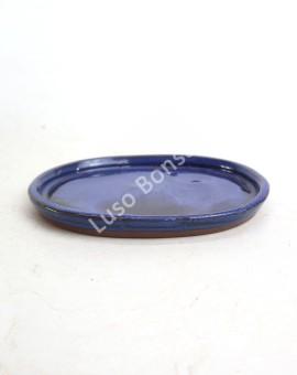 Prato oval 16x14x1,5 cm Azul