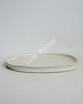Prato oval 26x21x2 cm Creme